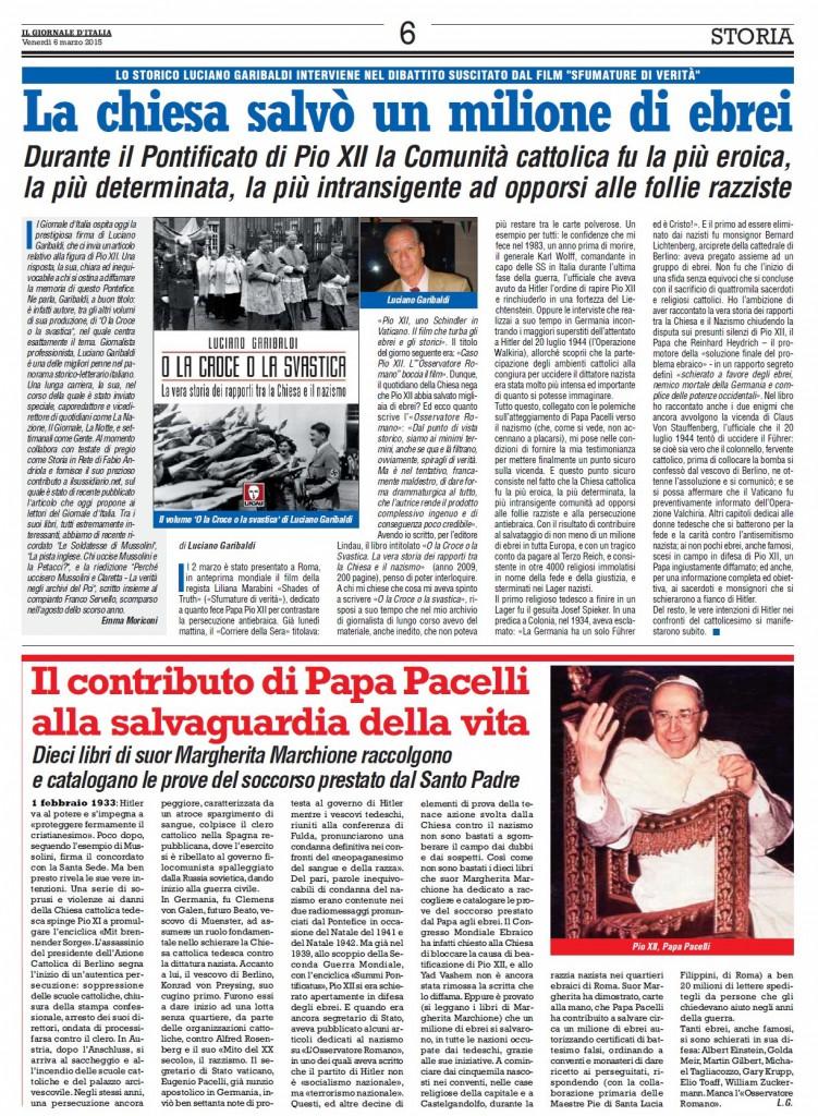 Giornale d'Italia 6 marzo  2015
