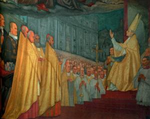 Pio XII proclama il dogma dell'Assunzione • Cappella Americana